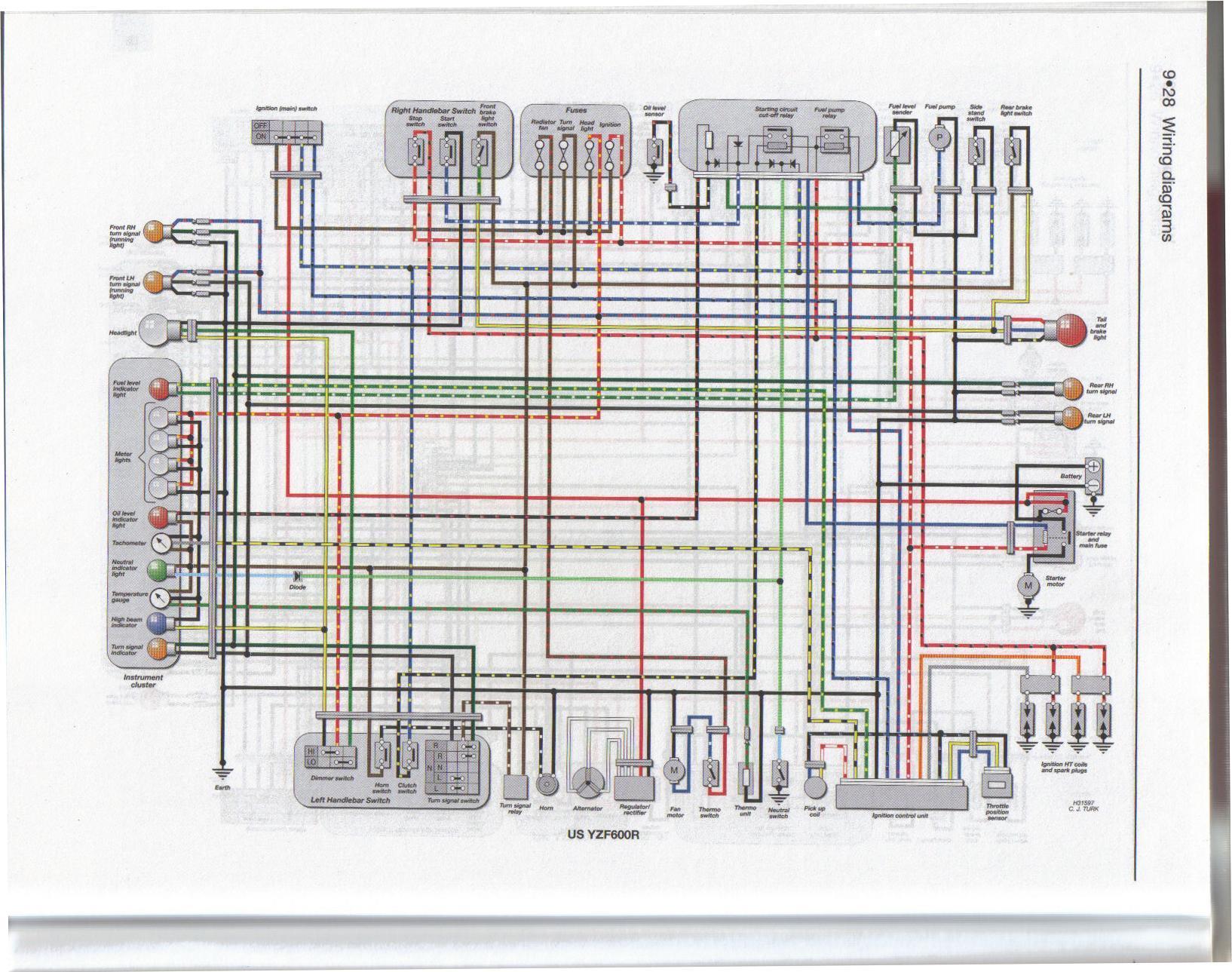 Yamaha Yzf600 Wiring Diagram Seat